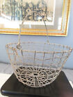 Antique Egg Basket Primitive Wire Hand Made Farm Rustic w  Handle