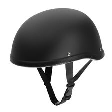 Matte Black Dot Motorcycle Half Helmet Skull Cap Hat For Harley Chopper Bobber