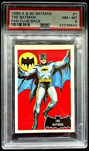 1966 A&BC Batman THE BATMAN #1 FAN CLUB 1 of 2 NONE HIGHER NM-MINT 8 - garno PSA