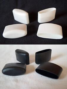 Lot de 4 Embouts Protection Pieds 41 X 16mm Noir/Blanc pour Chaise Capuchons