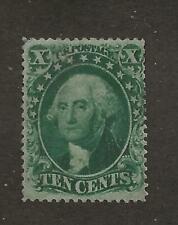 US Stamp #33 1857-61 Green 10c Washington Type III Unused NG Tiny Thin SCV $2000