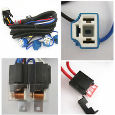 Ceramic H4 Headlight Headlamp H4 Light Bulbs Relay Wire Harness Socket Plug Set