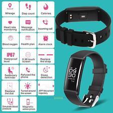 Waterproof Smart Watch Heart Rate Blood Pressure Monitor Activity Tracker Black