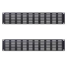 2 Panneaux de Façade VENTILLE Long 19 Pouces  Hauteur 2 Unités Couleur Noire