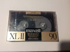 New listing Maxell Xl Ii 90 Minute Blank Audio Cassette Tapes High Bias Sealed Xlii