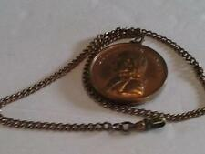 Bronze Medal Allusive to Napoleon Bonaparte Consul Vintage Pocket Watch Chain