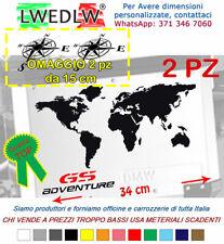 2 Adesivi BMW WORLD R1200GS Adventure borse in alluminio valigie  bags stickers