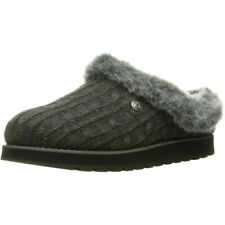 Skechers Bobs 31204 ICE ANGEL Charcoal Ladies Slippers (GO)