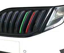 Skoda Fabia VRS Front Grill Sports Stripe Stickers Red & Green Octavia sports