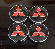 Wheel Center Caps 60mm Badge Set 4pcs Mitsubishi