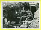1939 Switzerland Soldiers Eat Meal by Dugout Trench Original Press Photo