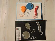 Craft Metal Die compatible with Cuttlebug or Sizzix - Set 3 Balloons