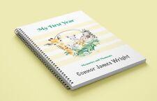 Baby Memory Book-Safari-Memory Journal-Milestone Book-Full Colour- 69 pages