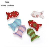 Pet Cat Valentine's Day Gift Cloth Fish Interactive Toy Random Color