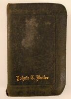 Vintage / Antique Holy Bible King James Undated Johnie T. Butler Family Virginia