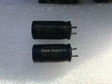 RUBYCON BLACK GATE 100uF 25 volt F type Capacitors. High-End Audio