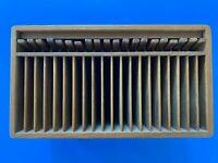 Kalmar Designs Teak Wood 20 CD Holder Lever Case Rack Mid Century Modern