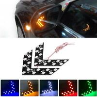 2Pcs Universal Car Side Rear View Mirror Rearview Mirror Turn Signal LED Lights