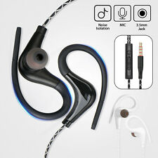 Wired In-Ear Sport Hifi Earphone Earbuds Over Ear Hook Headphone 3.5mm With Mic