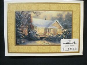 HALLMARK THOMAS KINKADE BOXED CHRISTMAS CARDS 18 CARDS,19 ENVELOPES, NIB