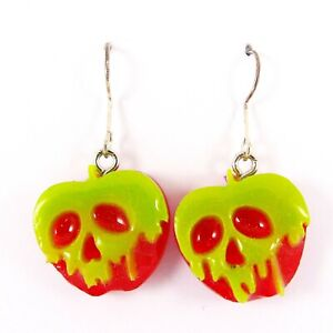 POISON APPLE EARRINGS evil queen villains snow white witch disney spooky