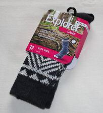 Explorer Socks Womens LYMQ1N 01K Camp With Wool Pattern Crew Socks Size 3-8