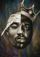 Notorious B.I.G Biggie Smalls Tupac Shakur Hip Hop Art Silk Poster 60x90cm 001