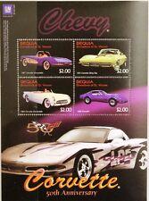 ST VINCENT GRENADINES BEQUIA 2003 Klb 364-67 Chevrolet Corvette Autos Cars MNH