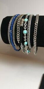 Bracelet Multi-Strand Chains Magnetic Clasp Various Statement Casual 7 inch