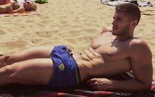 Shirtless Male Muscular Beefcake Hot Stud Hunk Sunbathing Jock PHOTO 4X6 D1101