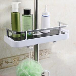 Bathroom Shower Rod Rack Punch-Free Soap Box Storage Rack Organiser DM