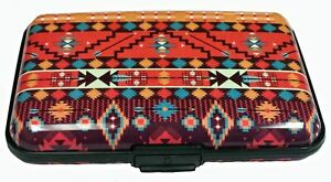 Aztec Arrows Design RFID Secure Theft Protection Credit Card Armored Wallet New