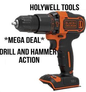 Black & Decker 18V Volt Cordless Combi Hammer Drill  Body Only