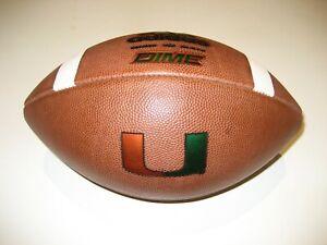 "2018 Miami Hurricanes GAME BALL Adidas Dime Football - CANES - The ""U"""