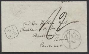 1849 Transatlantic Cover, UK to Penetanguishene UC, 1/4 Cy Collect
