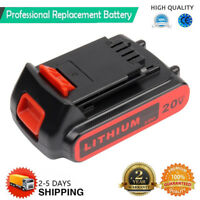 LBXR20 20V MAX Matrix Lithium Ion Battery For Black & Decker LCS1620 LDX220 2.0A
