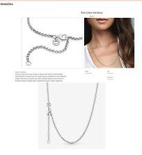 PANDORA Rolo Belcher Chain Silver Necklace (60cms) 399260C00 - Pouch & Post