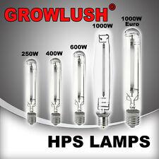 Hydroponics HID GROWLUSH grow bulb HPS 250/400/600/1000 Watt Lamp Grow Light