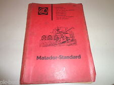 Spare Parts List / Catalog Claas Matador Standard Combine Harvester Stand 1963