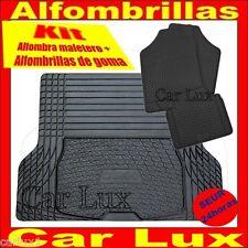 Alfombra cubeta maletero AUDI modelo B + Alfombrillas goma con borde alto adapta