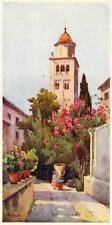 ORTA SAN GIULIO: Campanile. LAGO D'ORTA. Novara. Stampa Antica. Certificato.1905