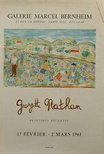 Georgette Nathan affiche litho galerie Marcel Bernheim 1961 Mourlot P 449
