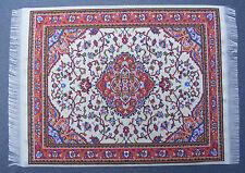 Escala 1:12 25cm X 17.5cm alfombra turca de tejido muñeca casa miniatura Alfombra P37L