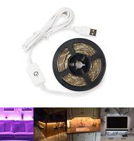 Touch Dimmer Flexible LED Strip Light 5V USB 2835 Waterproof Camping Tent Light