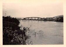 Gesprengte Brücke des Ardennen - Kanal in Belgien