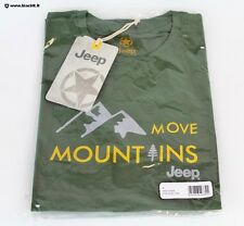 "T-shirt Jeep ""Move Mountains"" verde"