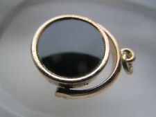 Antique Victorian Gold Filled Pocket Watch Fob Seal Pendant w/ Onyx