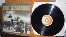 FABRIZIO DE ANDRE' RIMINI 1978 33 GIRI 1° PRESSC CON INSERTO GATEFOLD RICORDI
