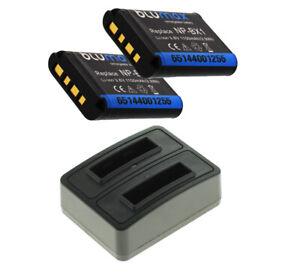 2 x Akku + Dual-Ladegerät für Sony Cyber-Shot DSC-HX350  - NP-BX1 - 1090mAh
