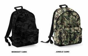 BagBase Rucksack CAMO BACKPACK Camouflage gepolstertes Rückenteil 18 liter